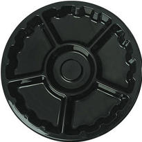 Black Plastic Lazy Susan Platter 16in