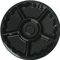 Black Plastic Lazy Susan Platter