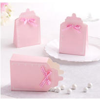 Pink Bottle Baby Shower Favor Box Kit 24ct