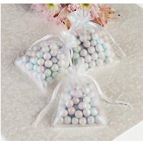 Iridescent Organza Wedding Favor Bags 12ct