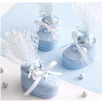 Blue Bootie Baby Shower Favor Kit 12ct