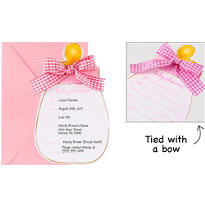 Pink Baby Bottle Jumbo Invitations 8ct