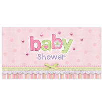 Carter Girl Baby Shower Embellished Invitations 8ct