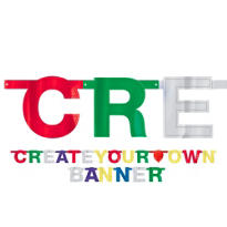 Large Create Your Own Letter Banner 84pc