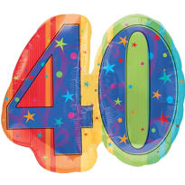 40th Birthday Balloon - A Year to Celebrate