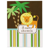 King of the Jungle Baby Shower Invitations 8ct