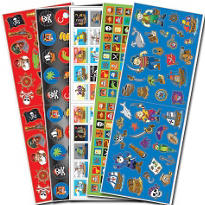 Pirate Stickers Value Pack 10 Sheets