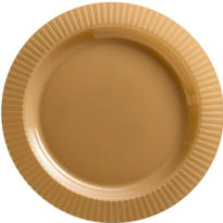 Gold Premium Plastic Dinner Plates 16ct