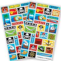 Pirate Party Stickers 60ct