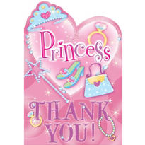 Princess Thank You Notes 8ct
