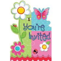 Garden Girl Invitations 8ct