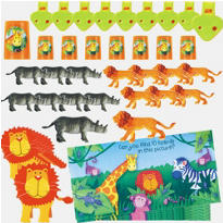 Jungle Animals Party Favor Pack 48pc