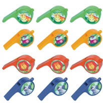 Jungle Animals Whistles 12ct