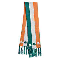 St. Patricks Day Irish Flag Scarf 70in