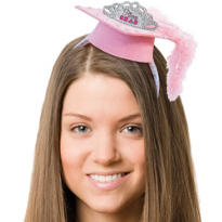 Princess Grad Cap Headband 9in