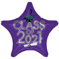 Purple Class of 2013 Star Graduation Balloon 19in