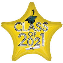 Yellow Class of 2014 Star Graduation Balloon