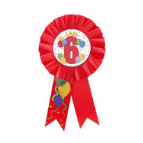 I Am 6 Birthday Award Ribbon