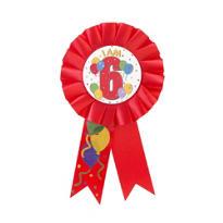 I Am 6 Birthday Award Ribbon