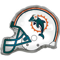 Miami Dolphins Helmet Foil Balloon 26in