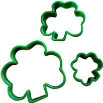 Plastic Shamrock Cookie Cutters 3ct