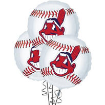 Cleveland Indians Balloons 18in 3ct
