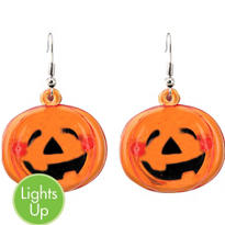Flashing Pumpkin Earrings