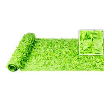 Kiwi Green Vinyl Floral Sheeting