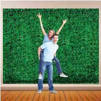 Festive Green Metallic Floral Sheeting
