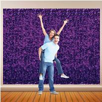 Purple Metallic Floral Sheeting