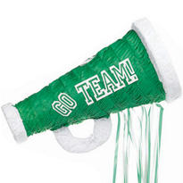 Pull String Green Megaphone Pinata 18in