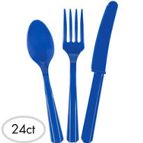 Royal Blue Cutlery Set 24ct