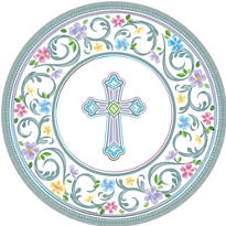 Blessed Day Religious Dinner Plates 18ct