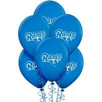 St. Louis Rams Latex Balloons 6ct