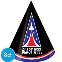 Space Odyssey Party Hats 8ct