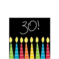 Great 30th Birthday Beverage Napkins 16ct