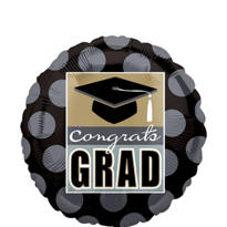 Foil Grad Pride Graduation Balloon 18in
