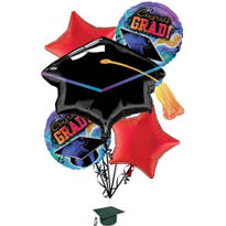 Foil Grad Reflections Graduation Balloon Bouquet 5pc