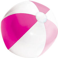 Pink and White Beach Ball 13in