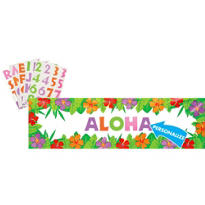 Personalized Hibiscus Banner 65in