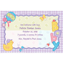 Hugs & Stitches Custom Birth Announcements