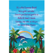Custom Ocean View Luau Invitations