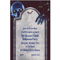 Custom Creepy Bones Halloween Invitations