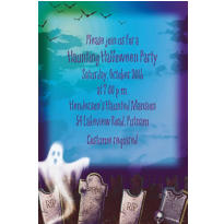 Mostly Ghostly Halloween Custom Invitation