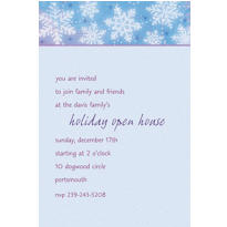 Snowy Breeze Custom Invitation