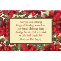 Snowy Botanical Custom Christmas Invitation