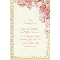 Dazzling Bouquet Custom Invitation