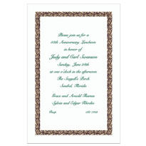 Black Basketweave/White Custom Invitation