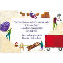 Pinhead Movers Custom Housewarming Invitation