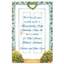 Trellis Front Door Custom Housewarming Invitation